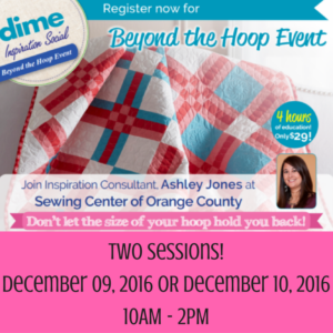 DIME Beyond the Hoop Event | Sewing Center of Orange County